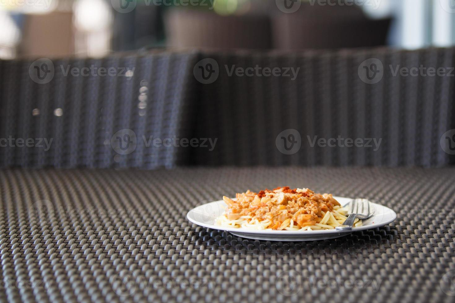spagetti griskås, bolognese foto