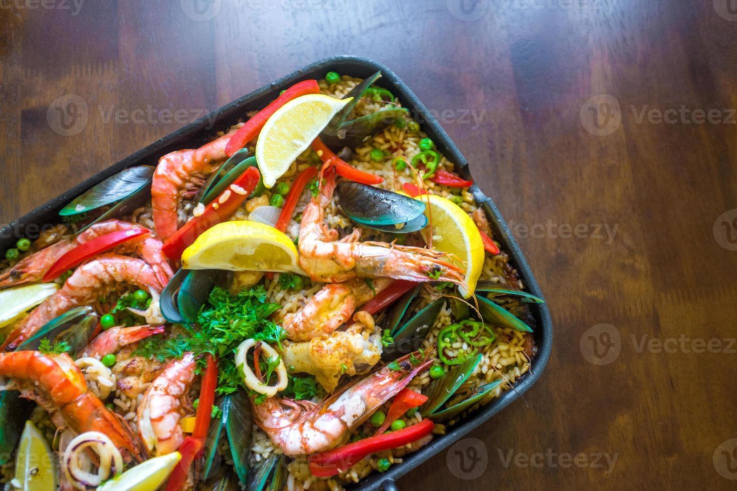 spansk paella foto
