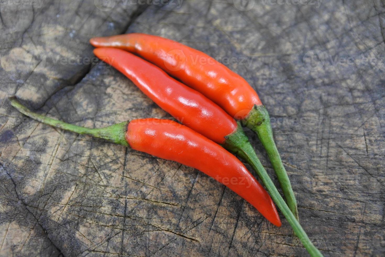 röd het chilipeppar. foto