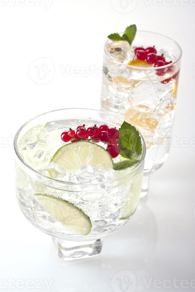 två drinkar foto