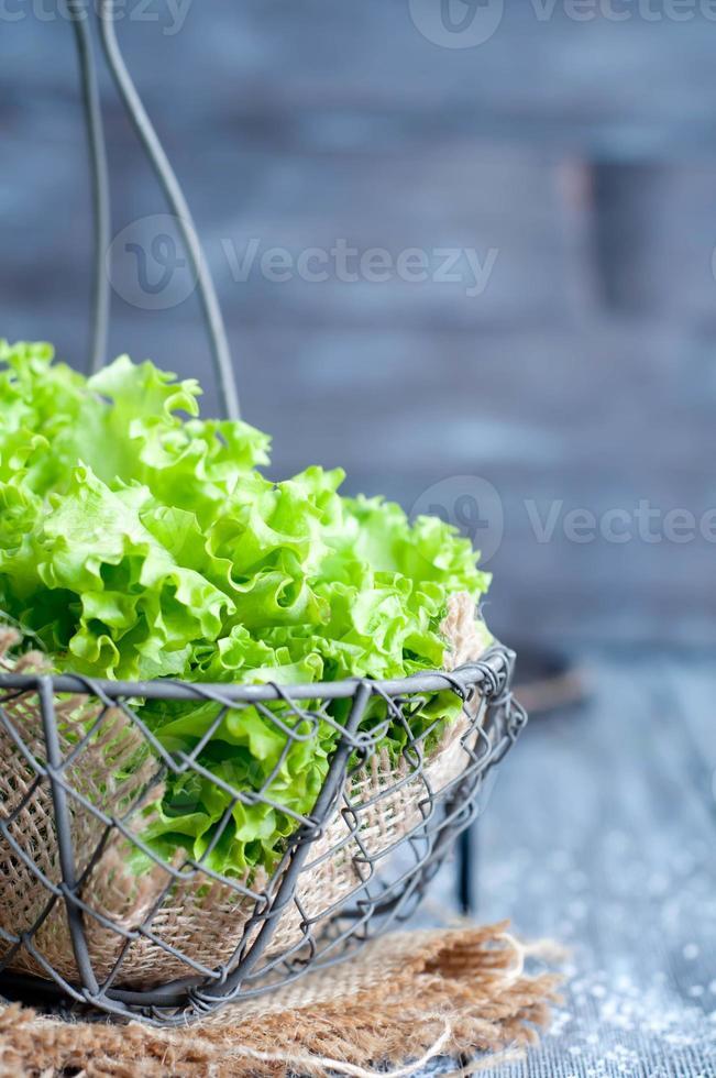 färsk grön sallad foto