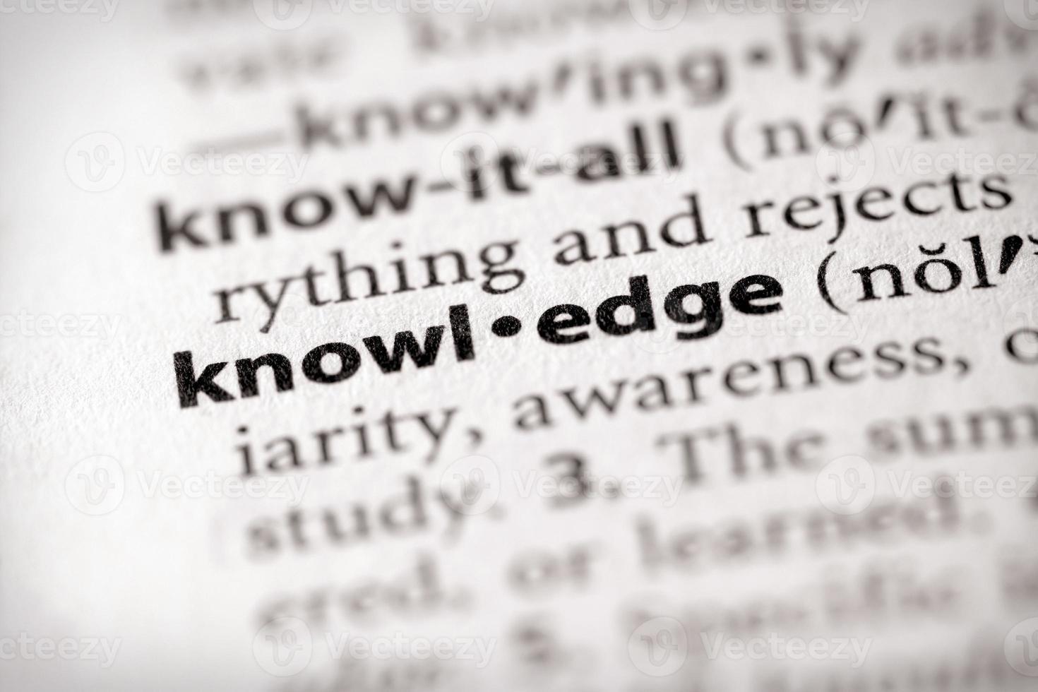 ordboksserie - vetenskap: kunskap foto