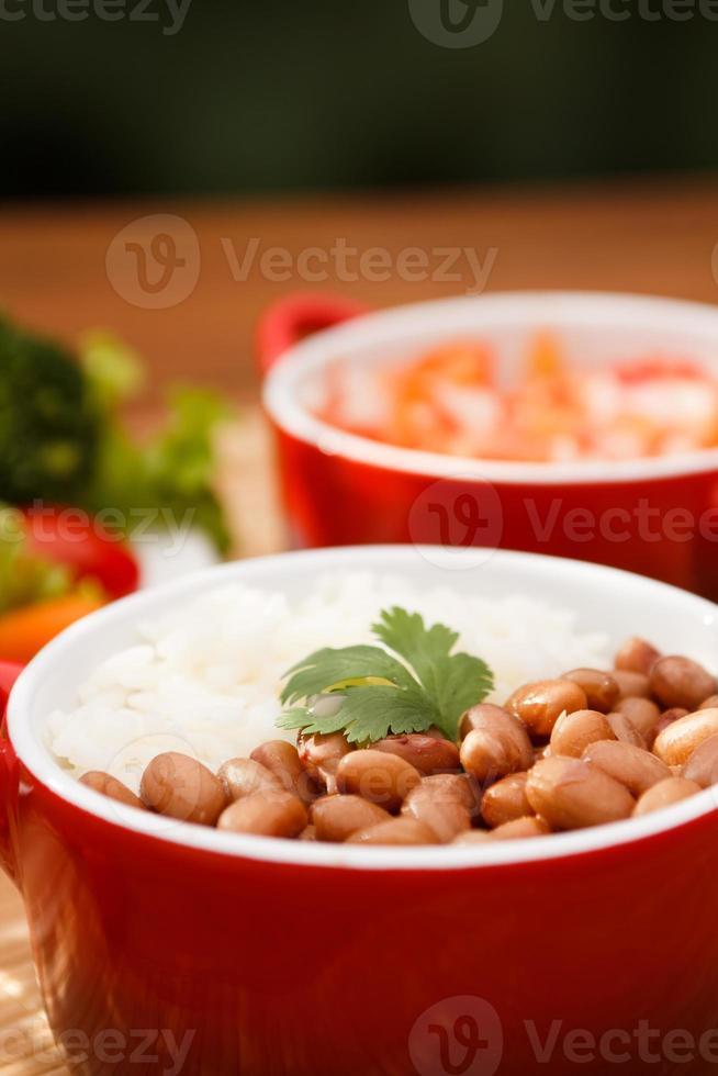 ris och bönor foto
