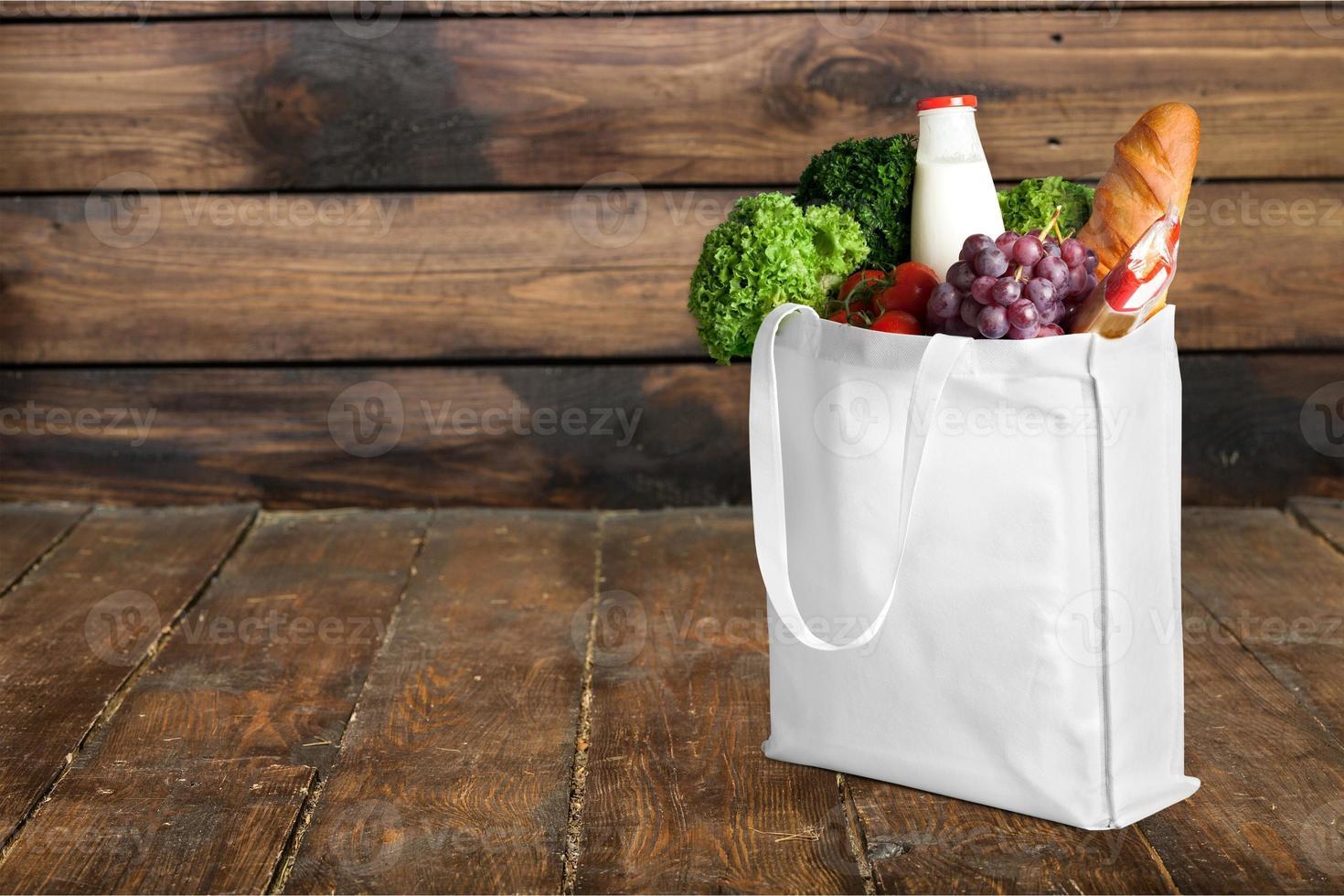 väska, shoppingväska, livsmedel foto