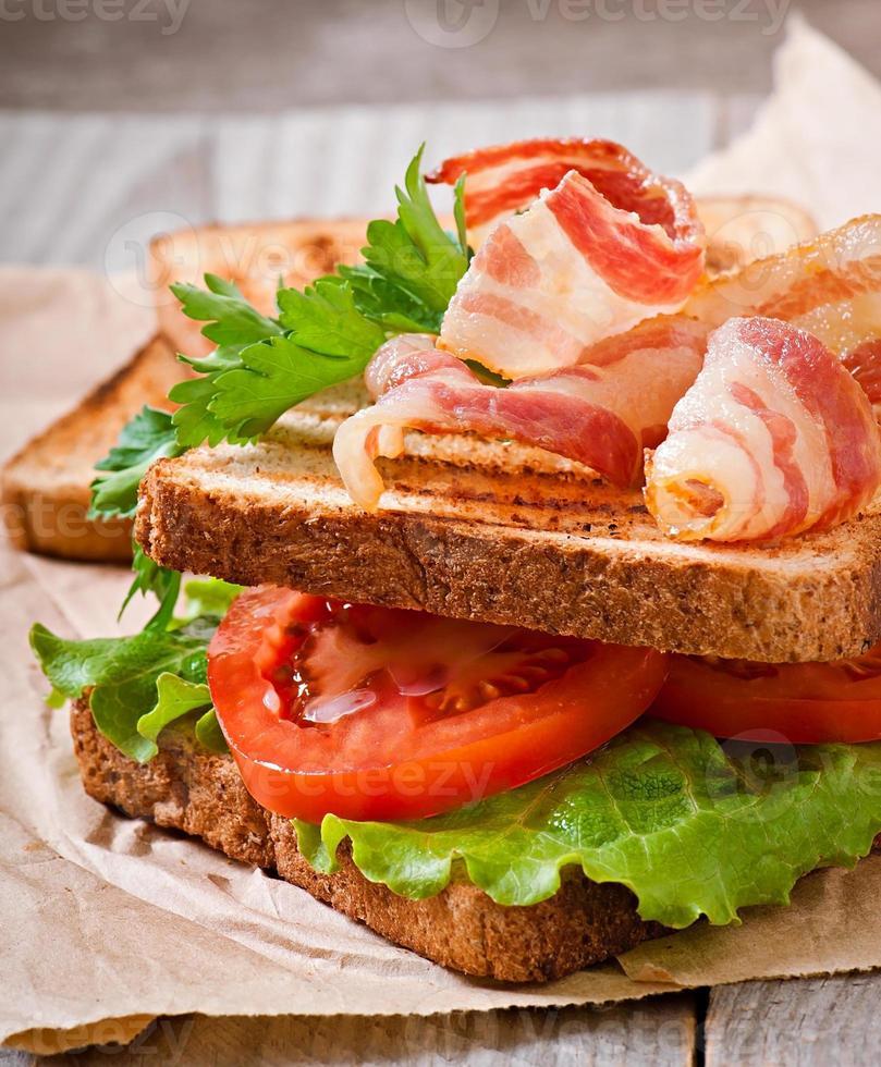 varm stor smörgås foto