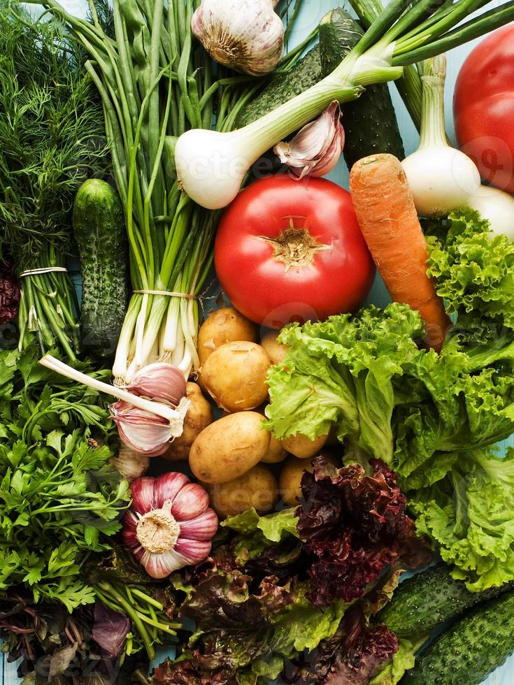 gröna och grönsaker foto