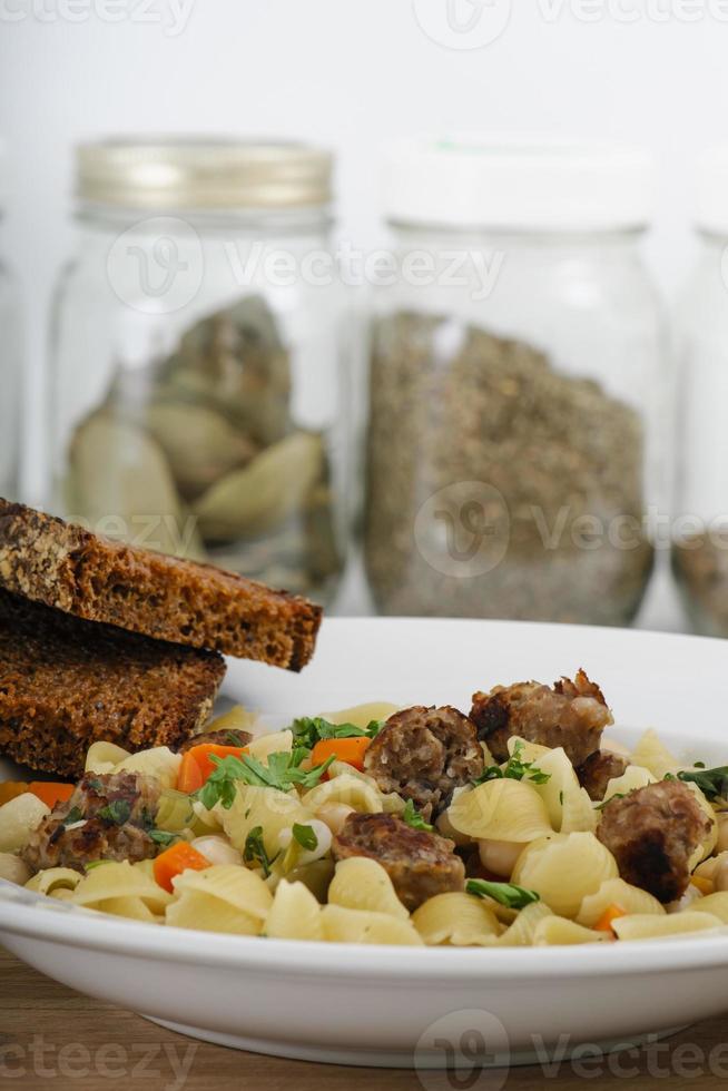 rustik italiensk middag foto