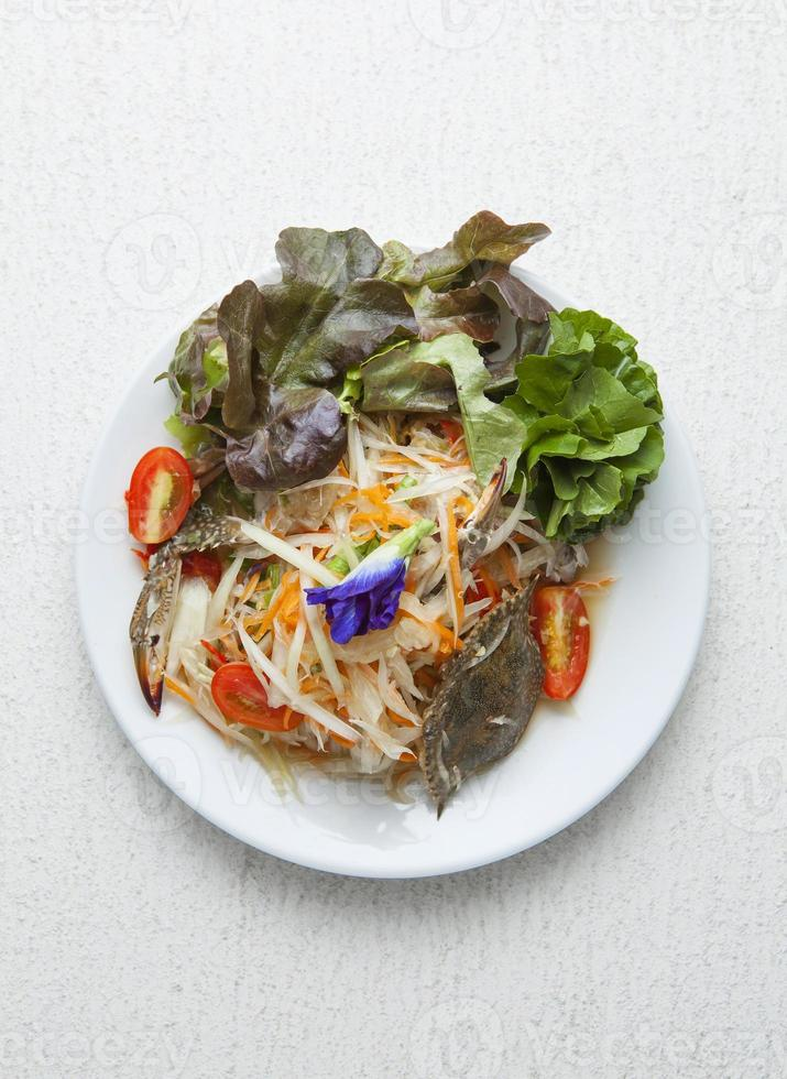 som tum, thai papayasallad foto