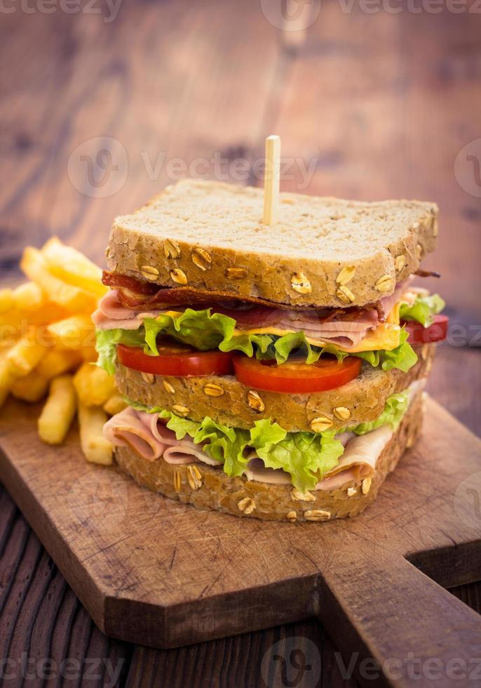 läcker smörgås foto