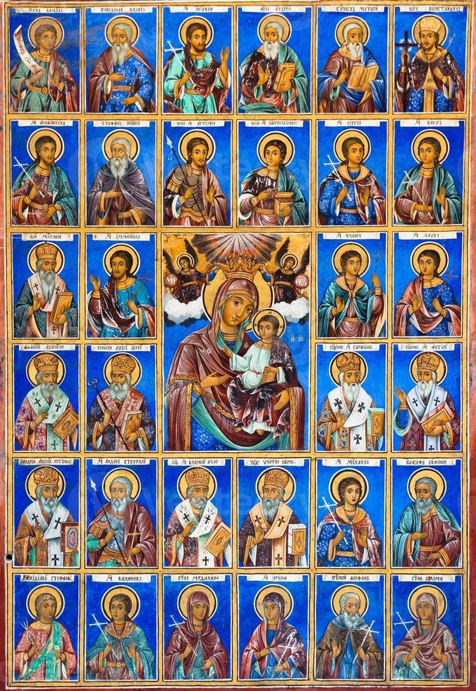 fresco på rila kloster foto