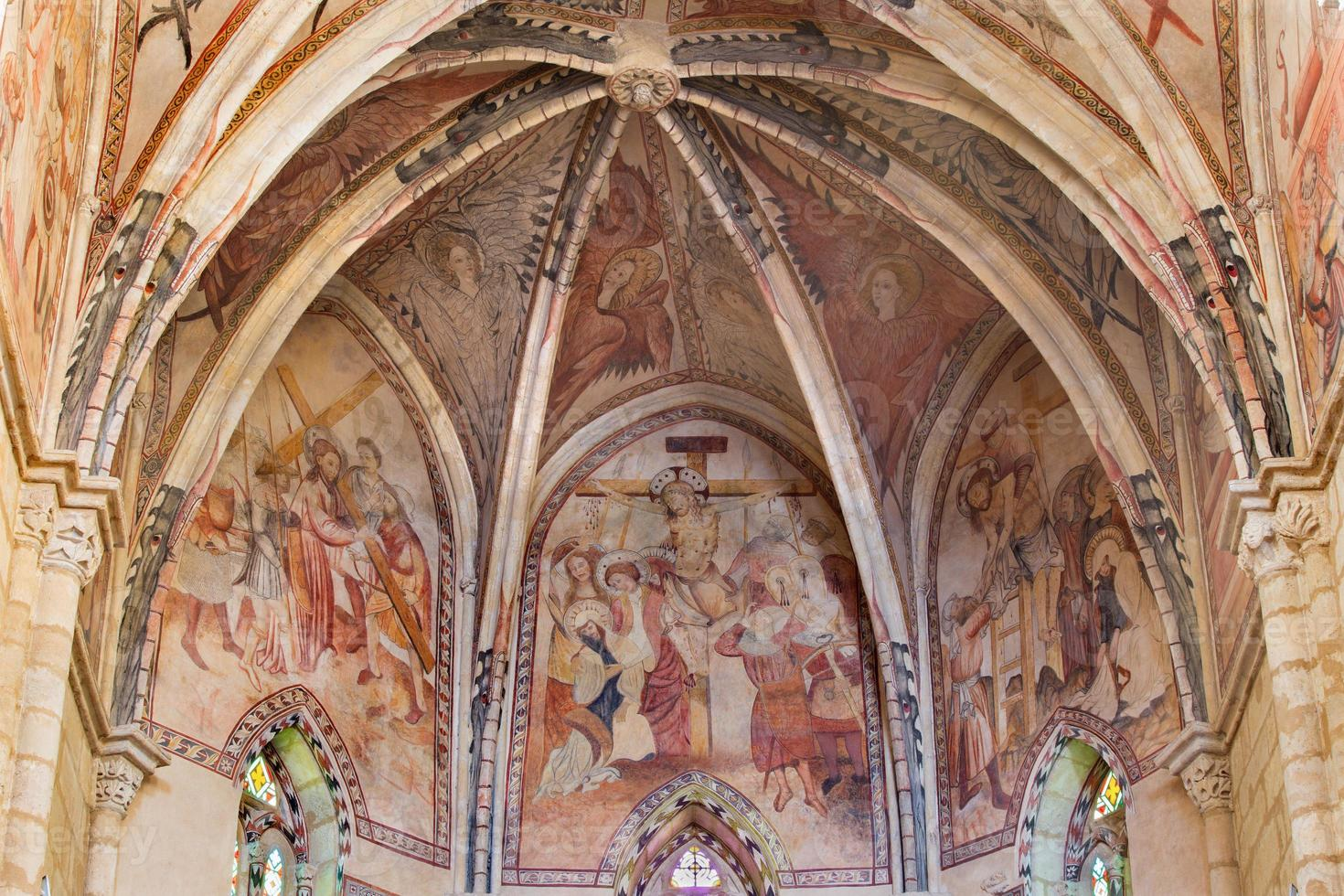 cordoba - lidande av kristna medeltida fresker foto