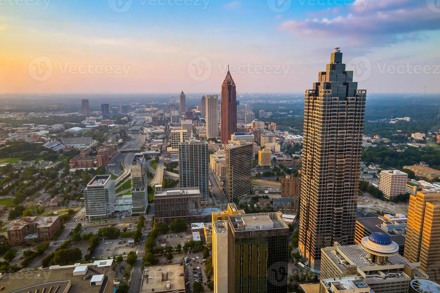 horisont av centrala Atlanta, Georgien foto