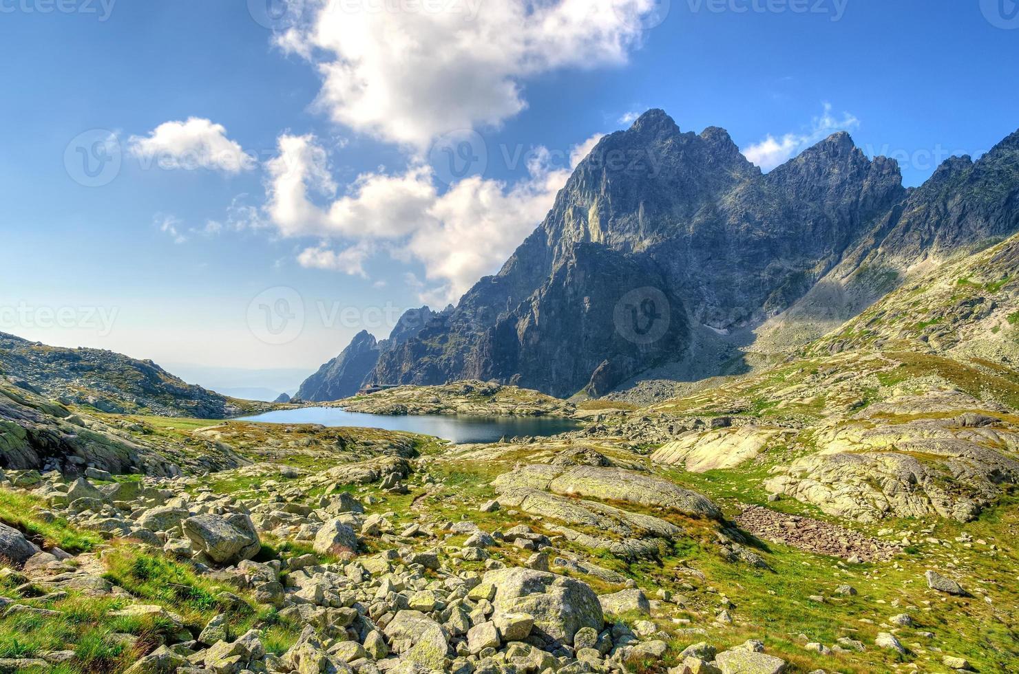 sommar bergslandskap. foto