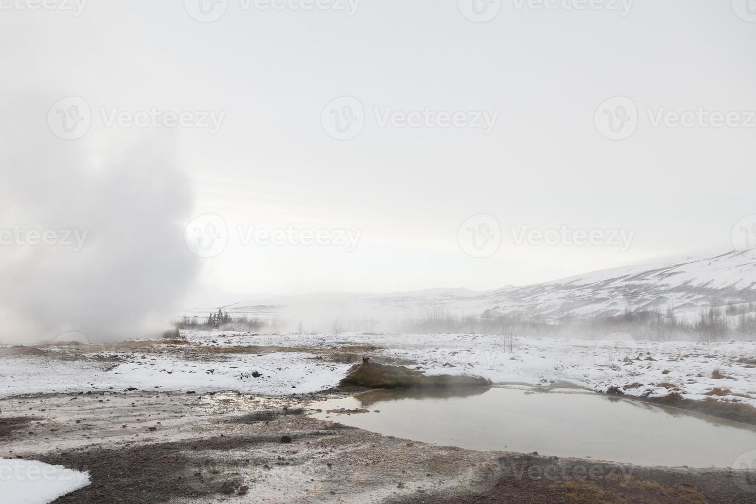 geotermiska fält på haukadalur, Island foto