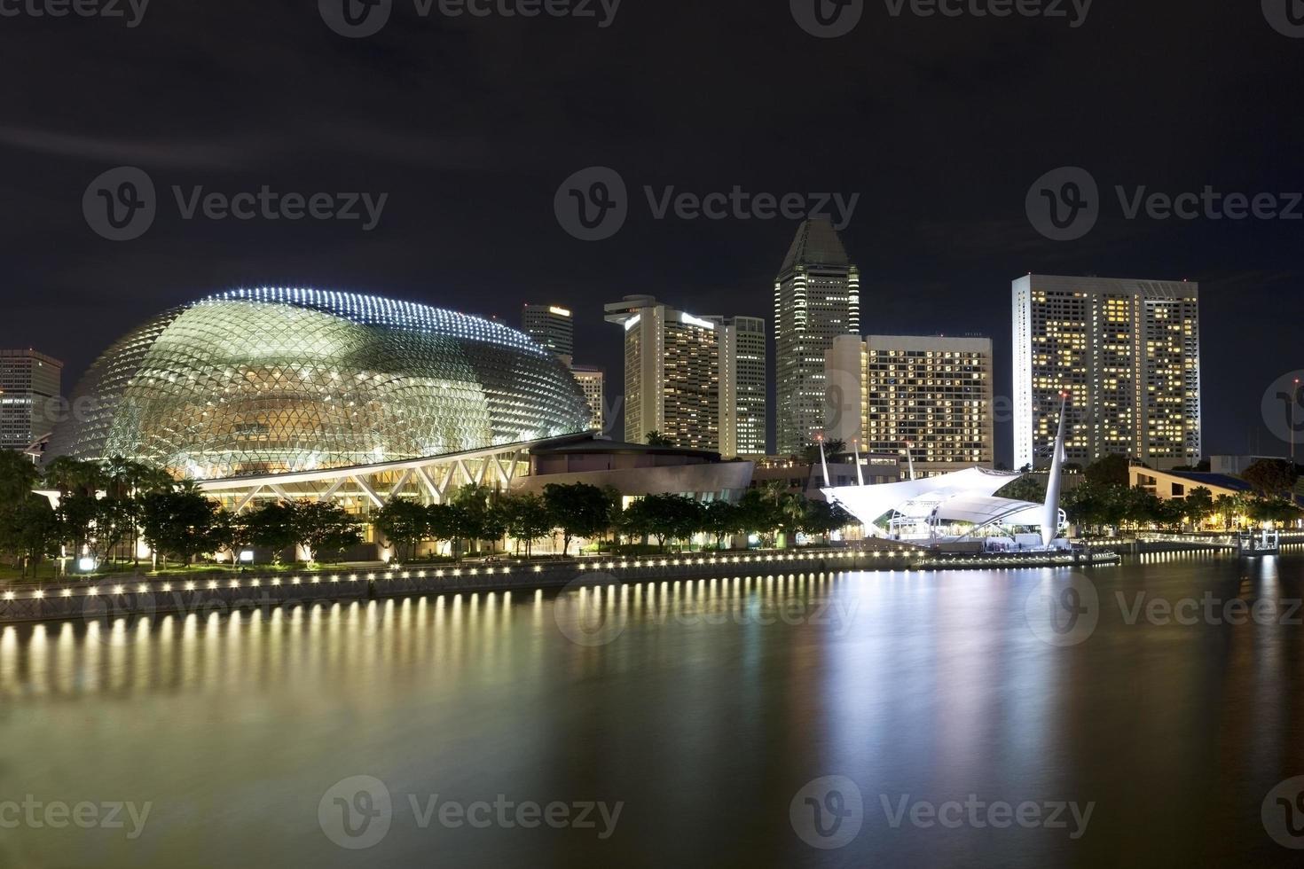 singapore horisont på natten foto
