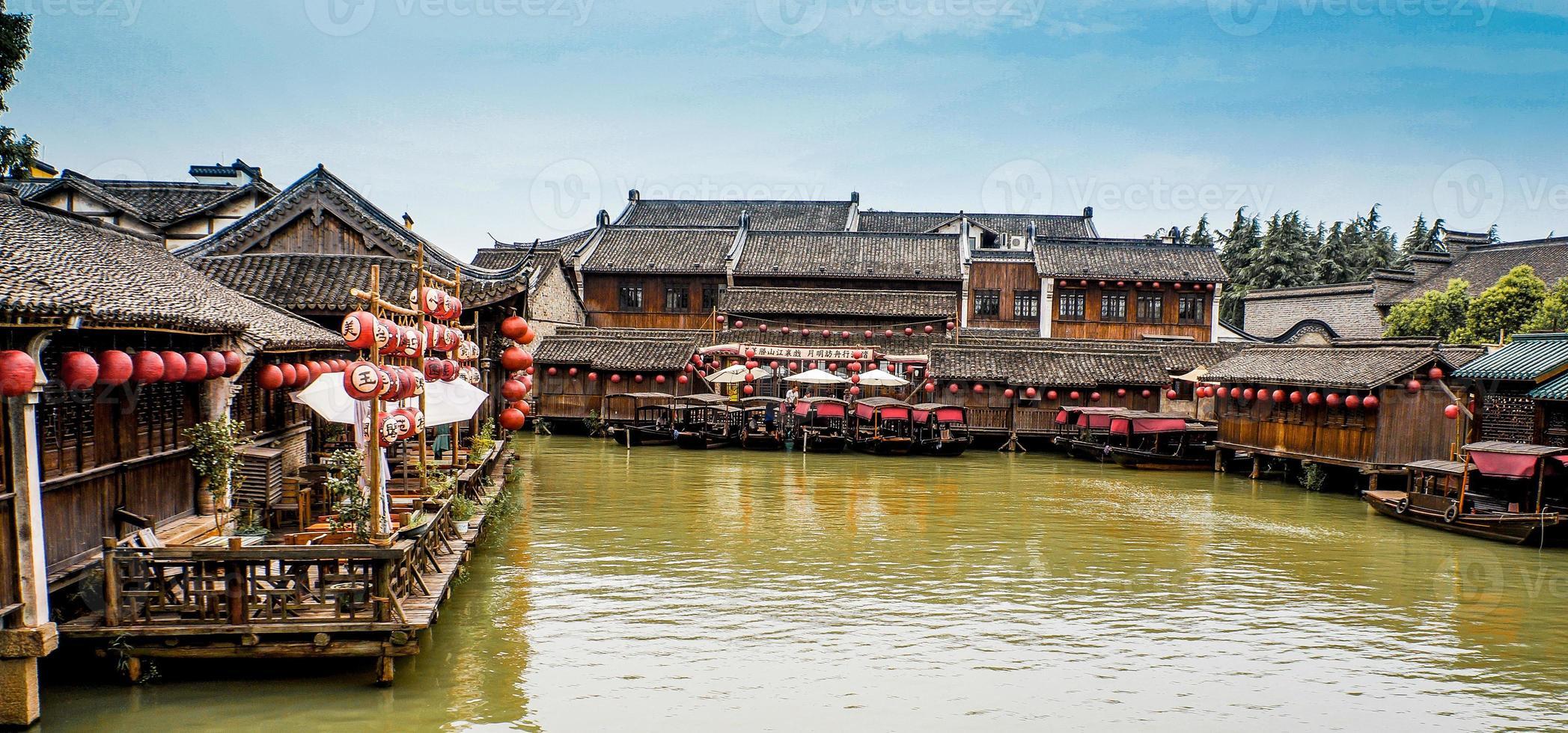 landskap av wuzhen i Kina foto