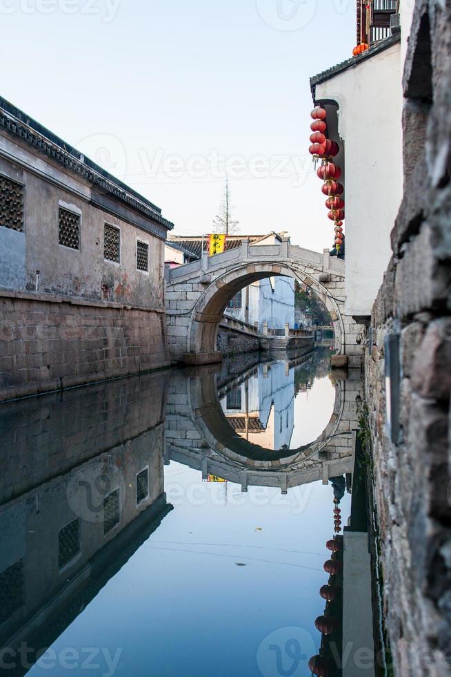 floden i Suzhou foto