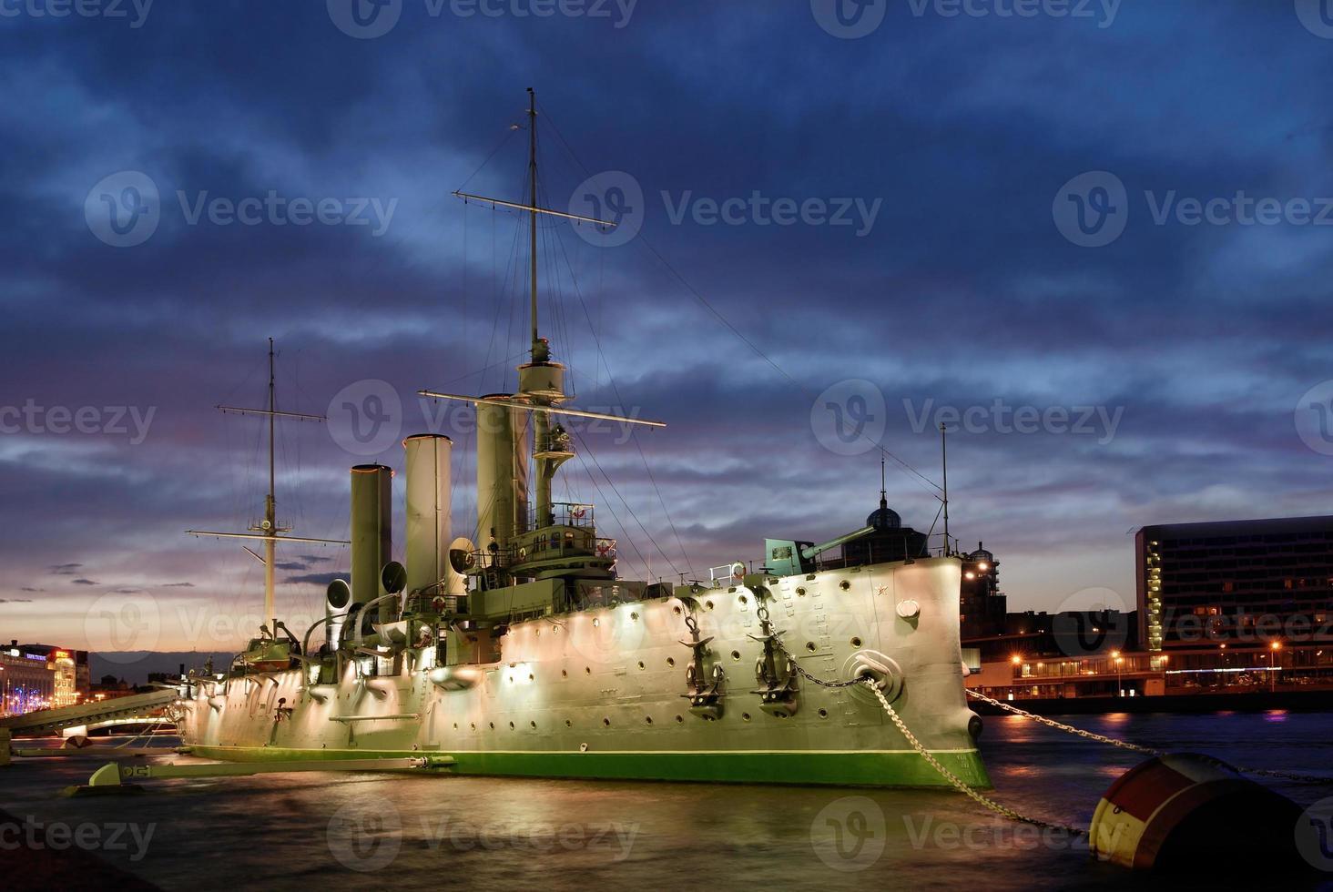 aurora cruiser i Saint-Petersburg foto