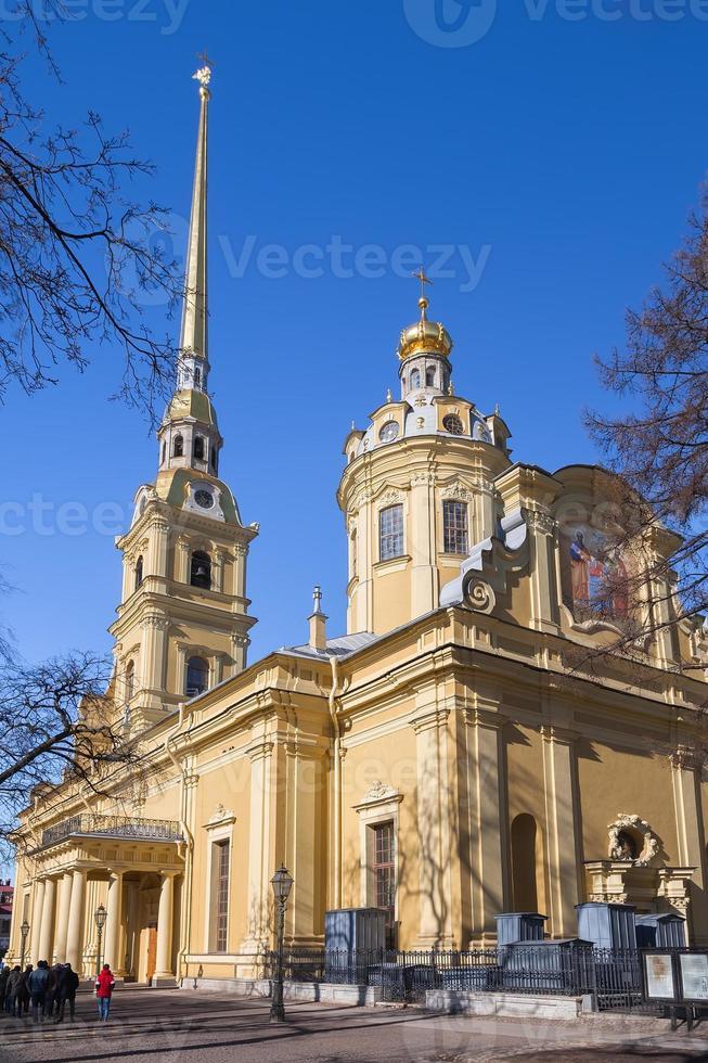 peter och paul katedral i peter och paul fästning foto