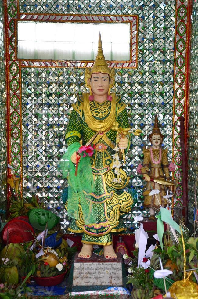 vårdnadshavare för rohani bo bo gyi för botahtaung-pagoden foto