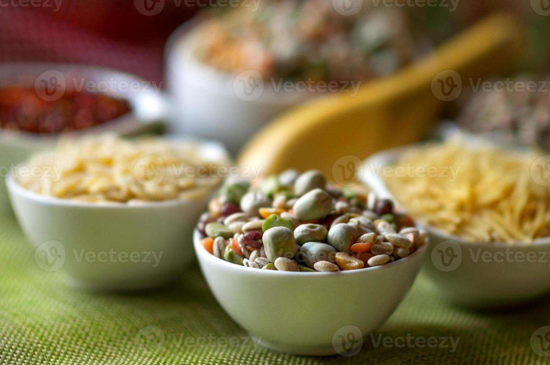 blandning av korn och pulser foto