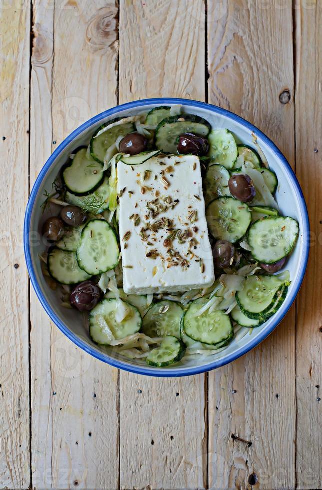 grekisk sallad. foto