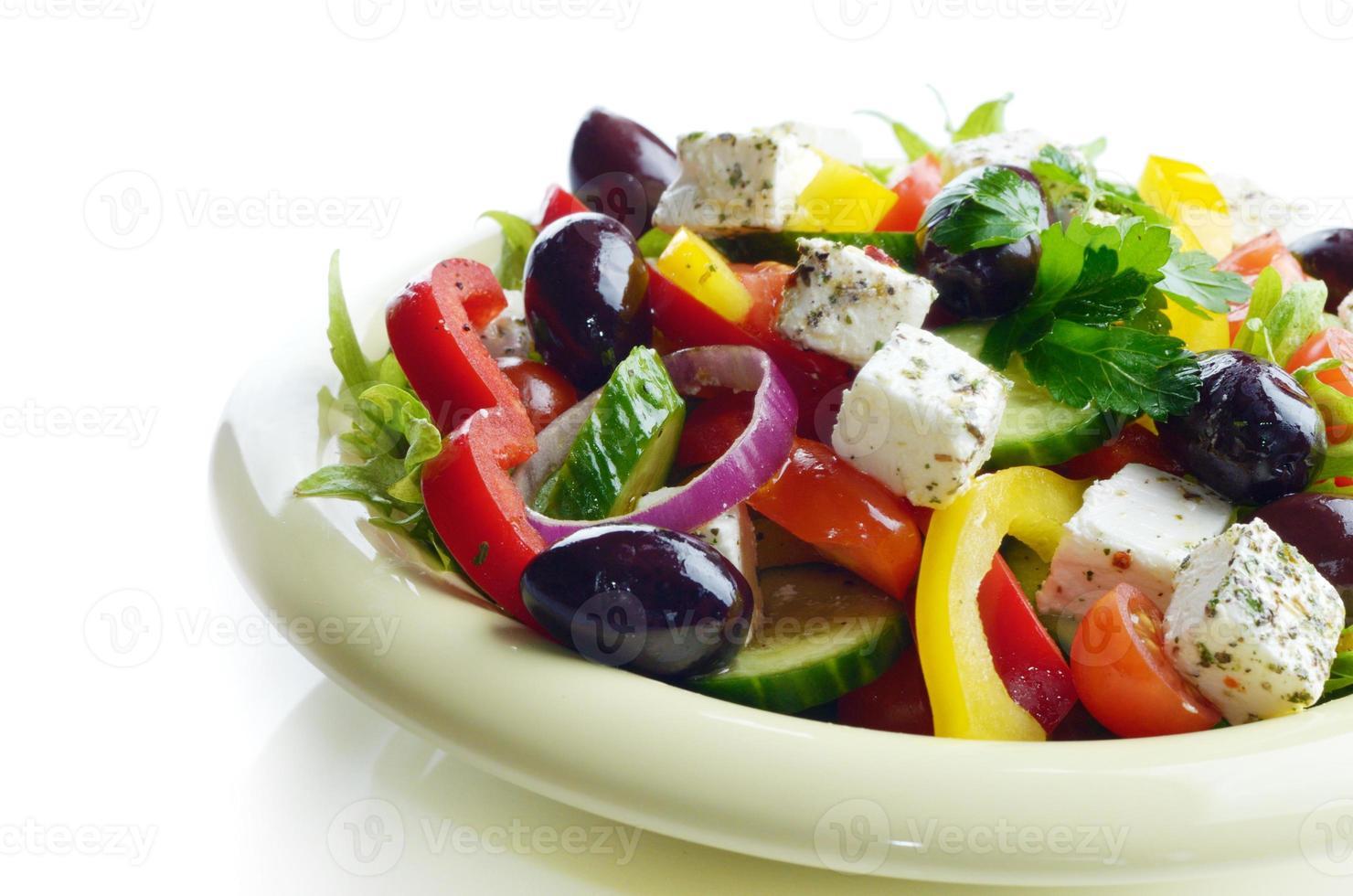 hemlagad grekisk sallad foto