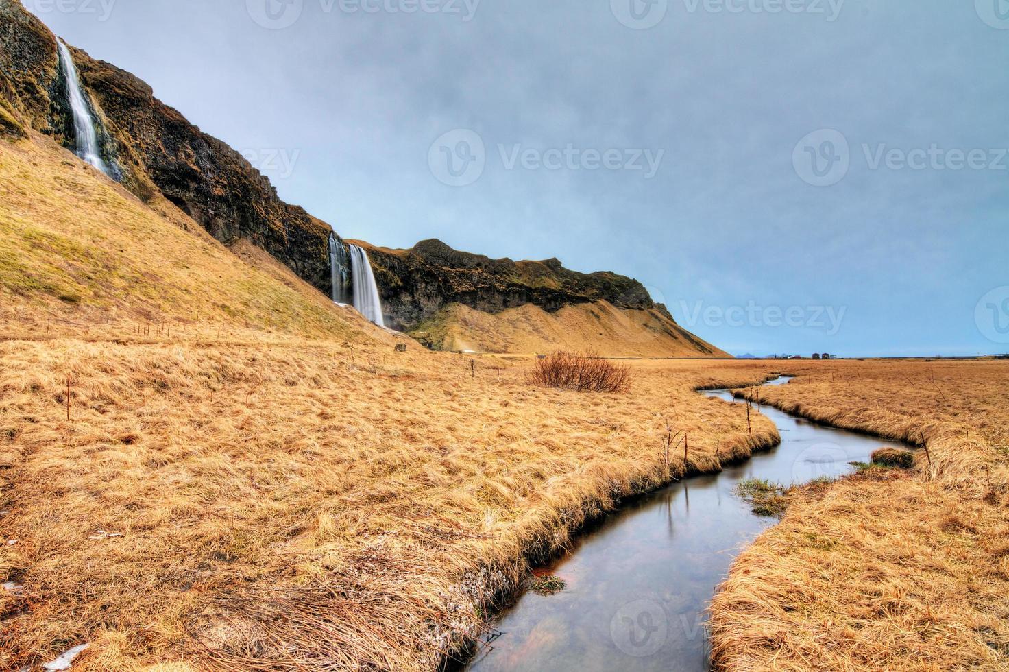 Island kaskadlandskap foto