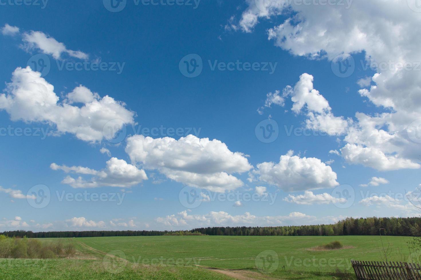 landskap med himmel foto