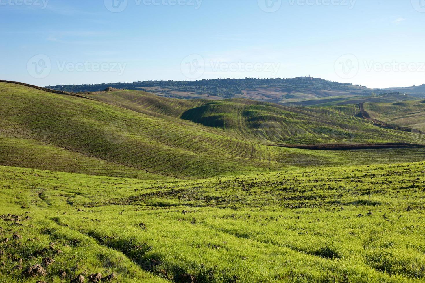 toskanska landsbygden, italiensk landskap foto