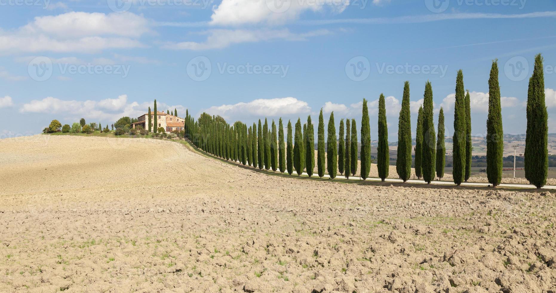 landskap i Toscana (Italien) foto
