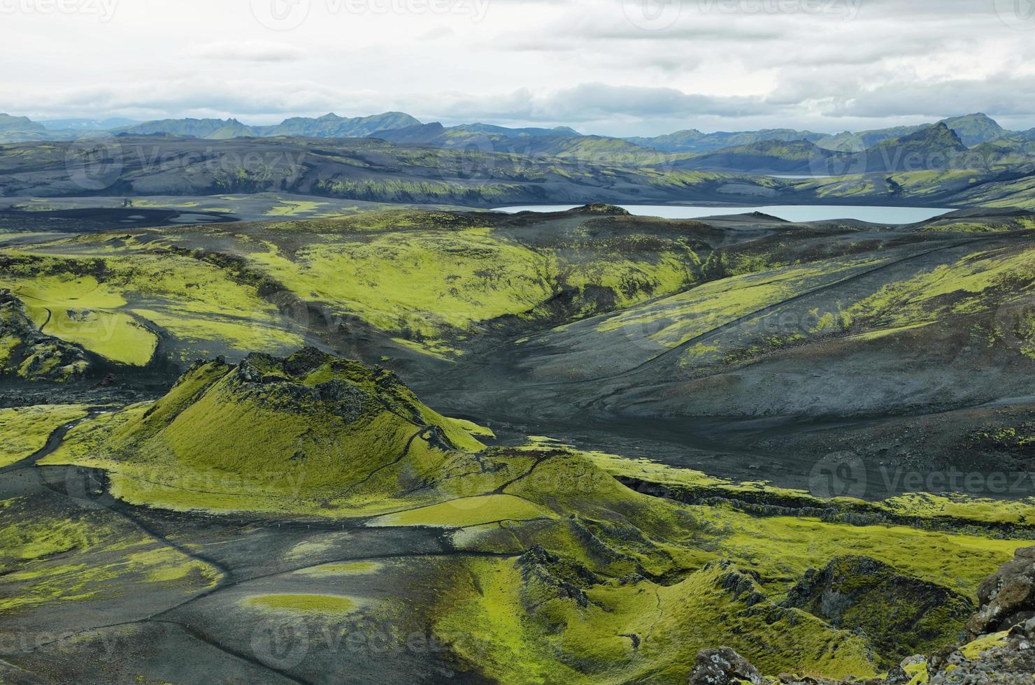 vulkaniskt landskap i lakagigar foto