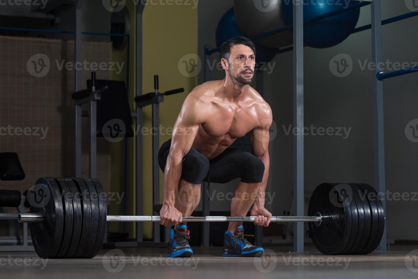 deadlift-träning för rygg foto