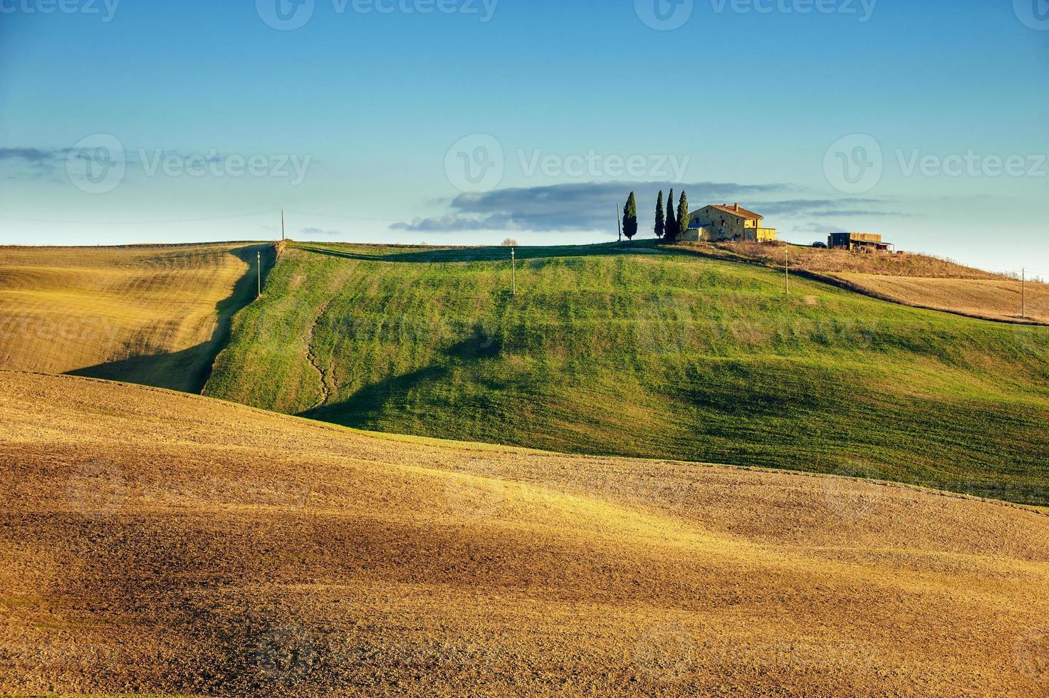 vackra Toscana fält och landskap foto
