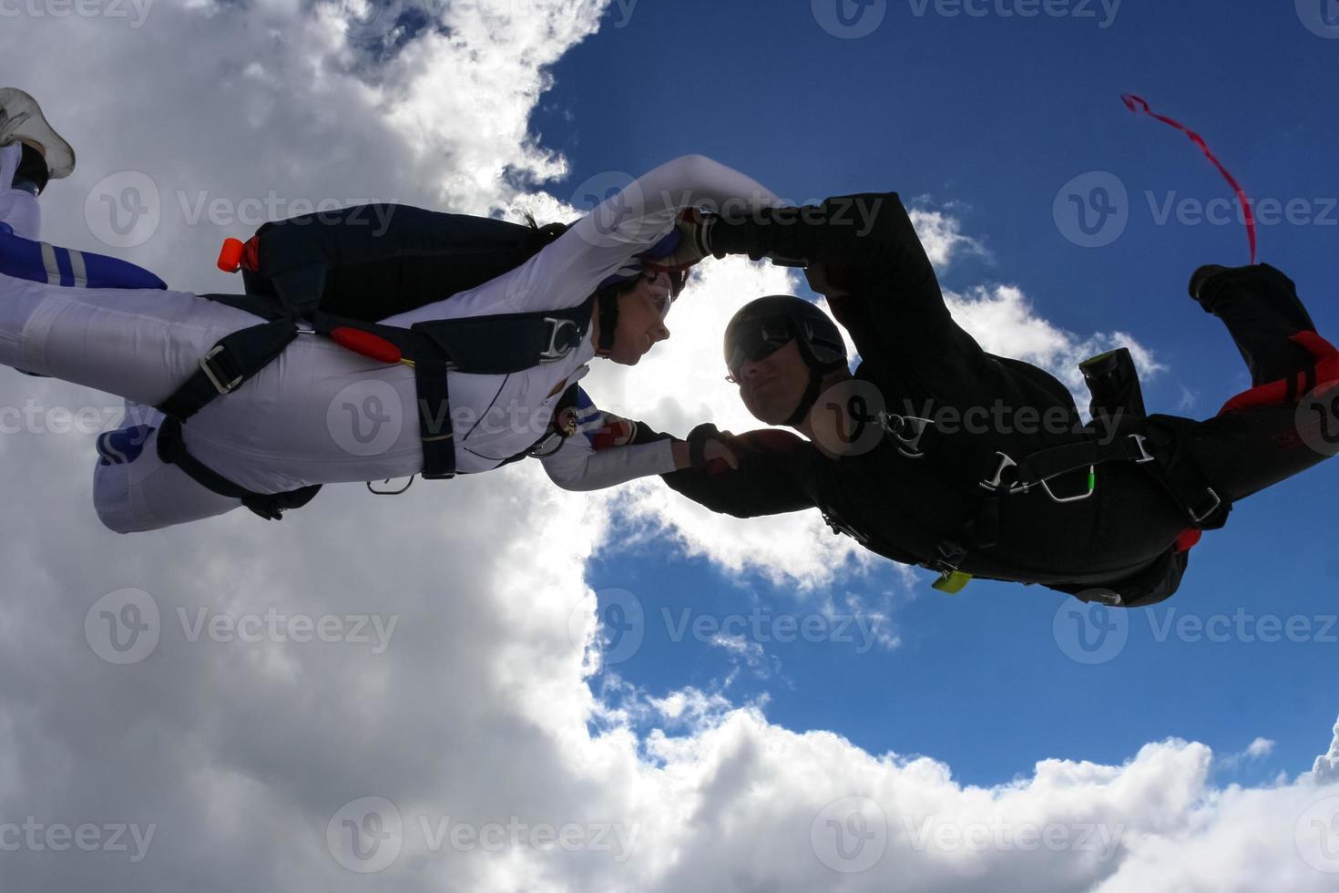 fallskärmshoppning foto. foto