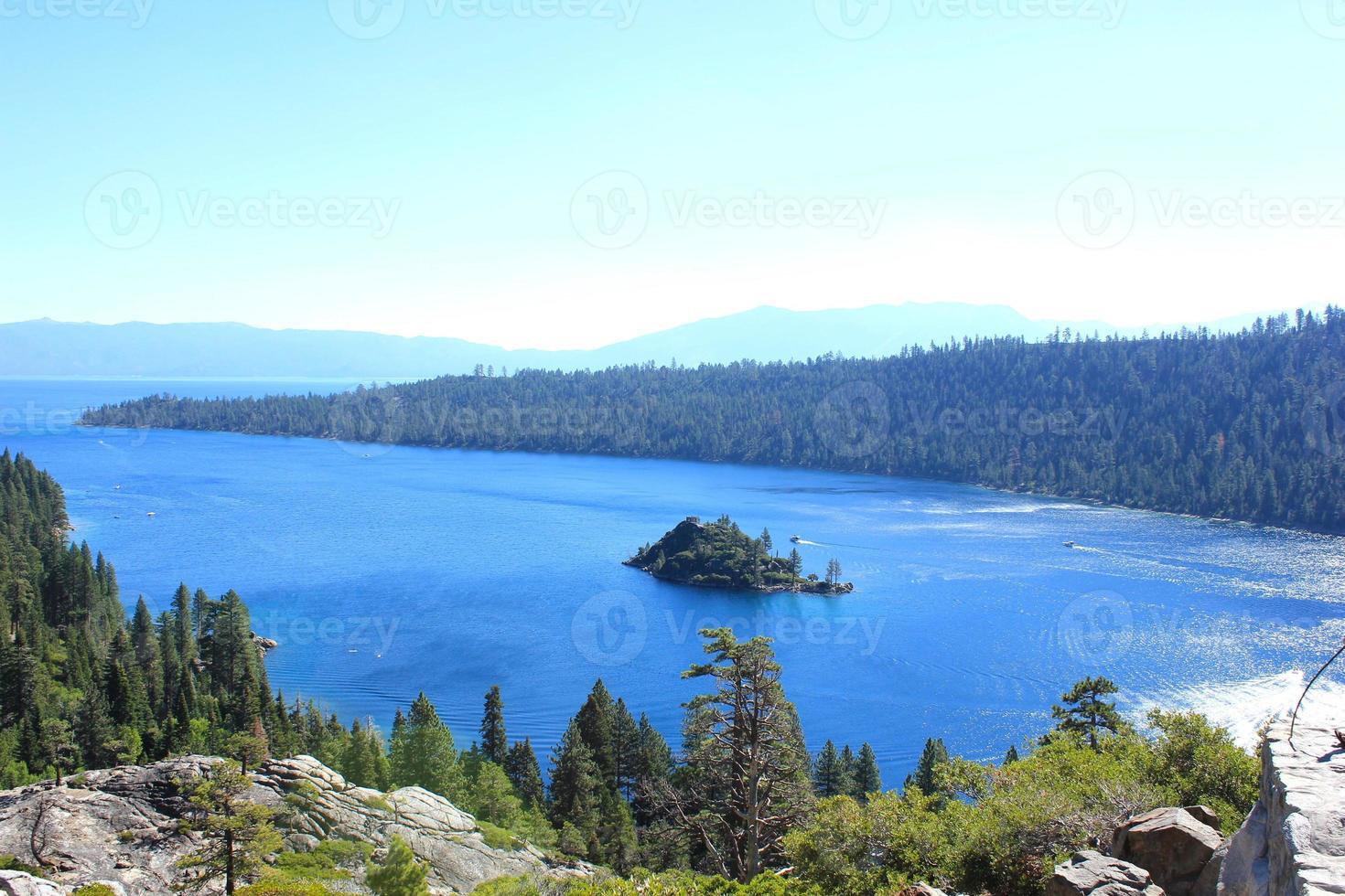 landskap i Lake Tahoe nationalpark foto