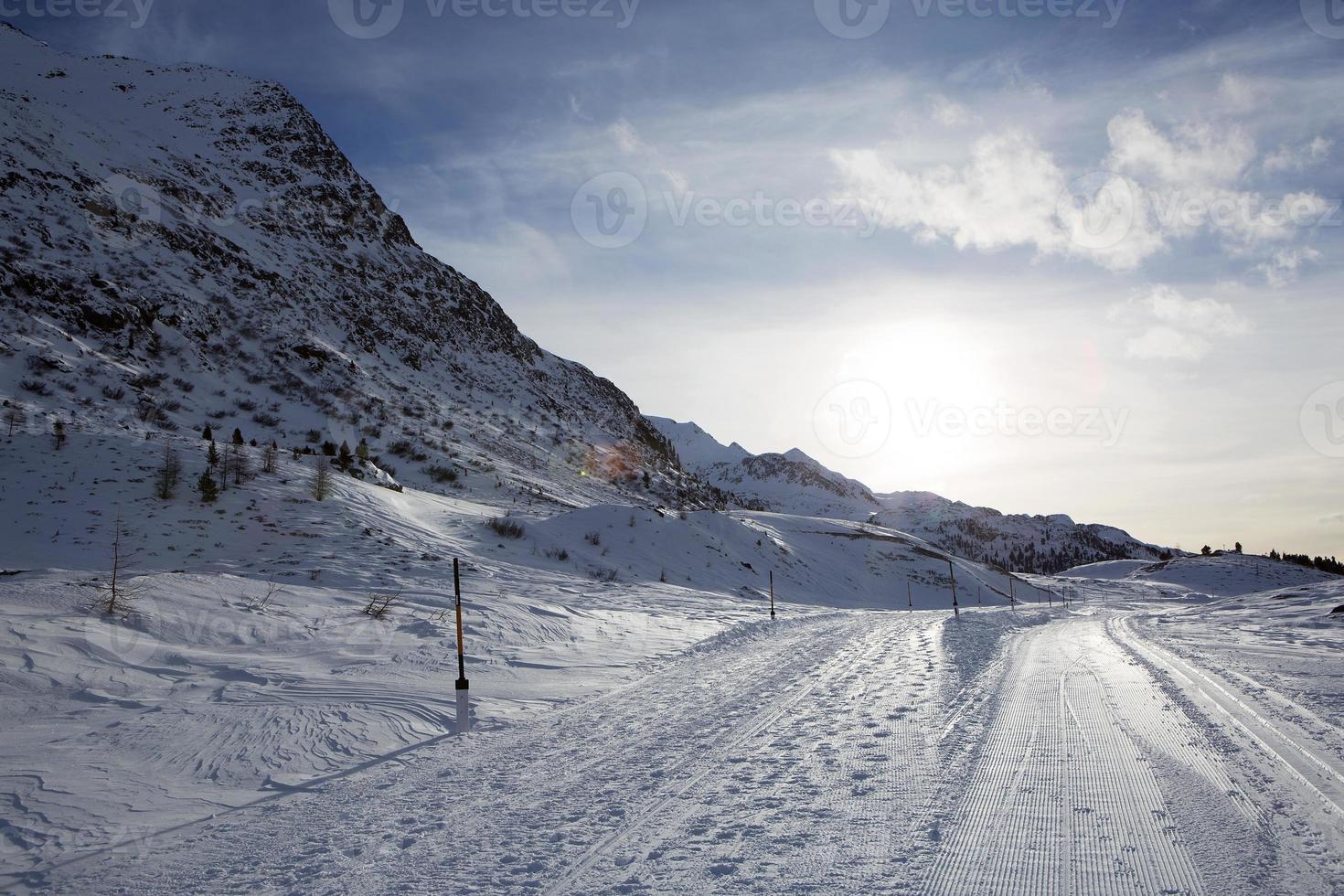bergslandskap i de österrikiska alperna foto