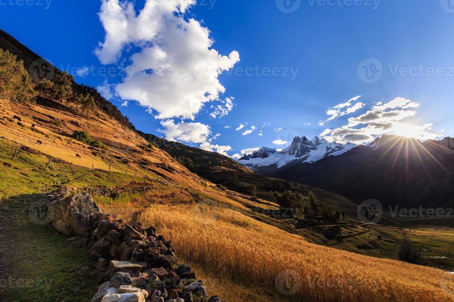 bergslandskap i Anderna, peru foto