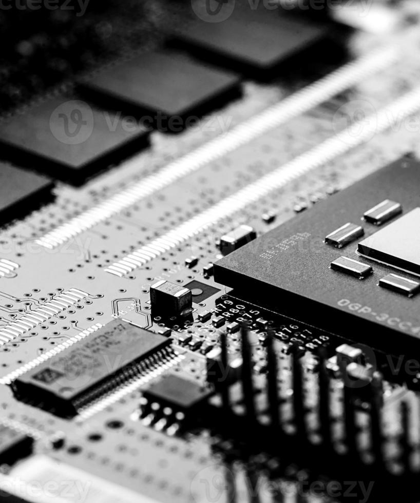 högteknologisk kretskort foto