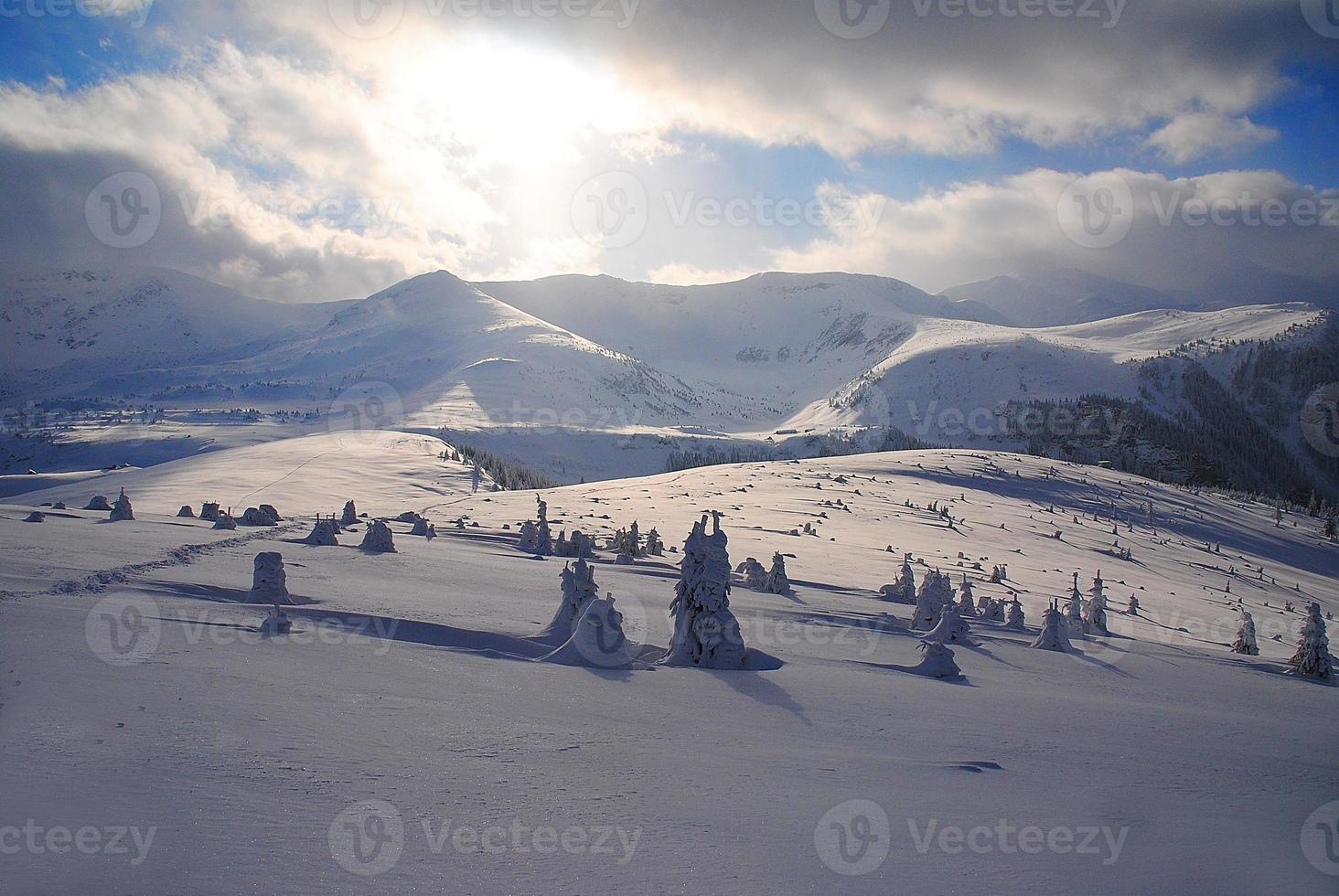 vintern i Rumänien foto