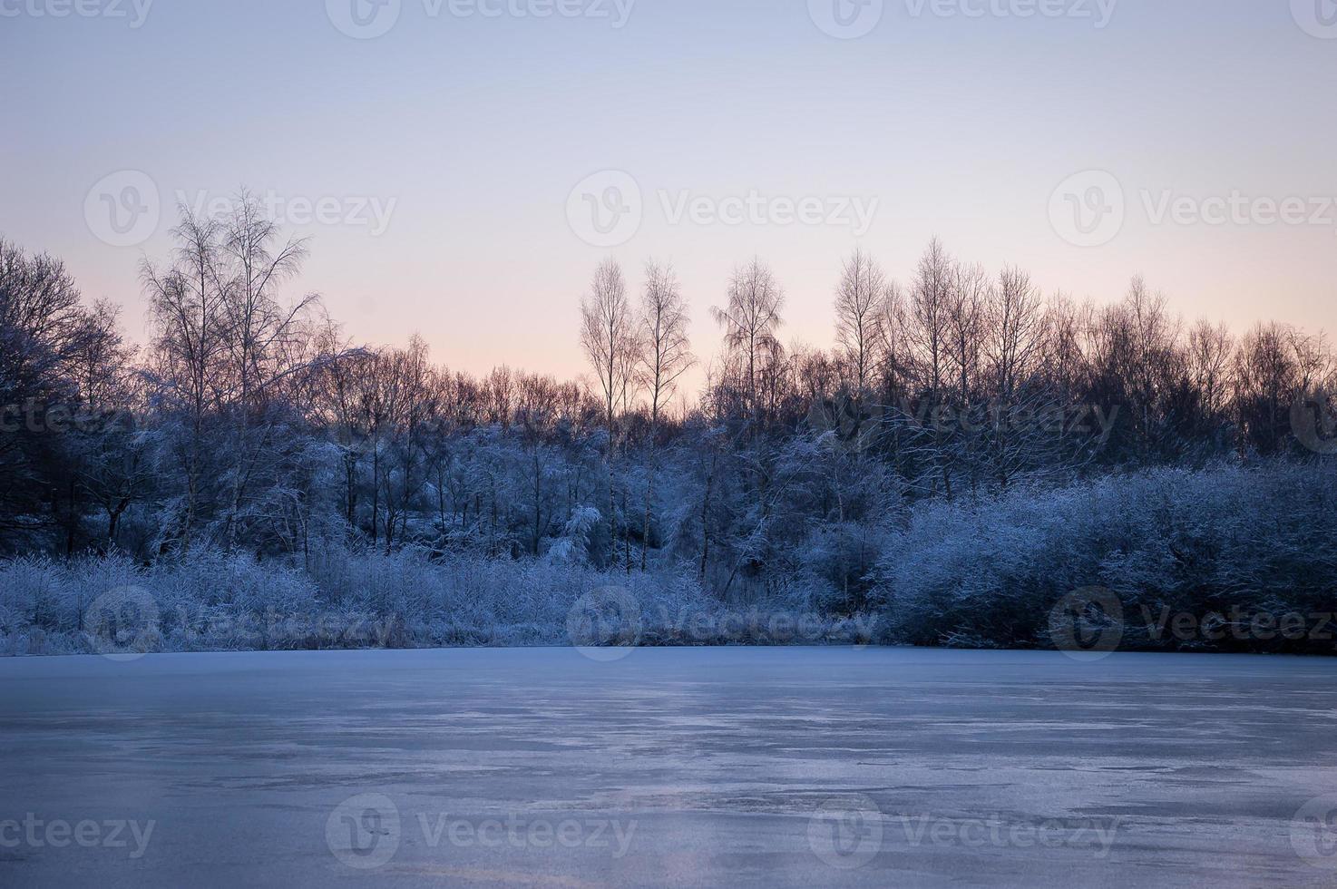 kall vintermorgon foto
