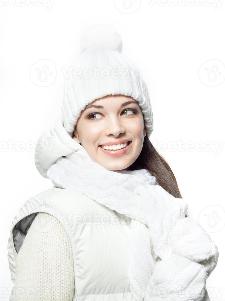 kvinna vinter foto