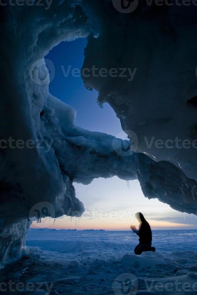 vinter sjö Huron foto