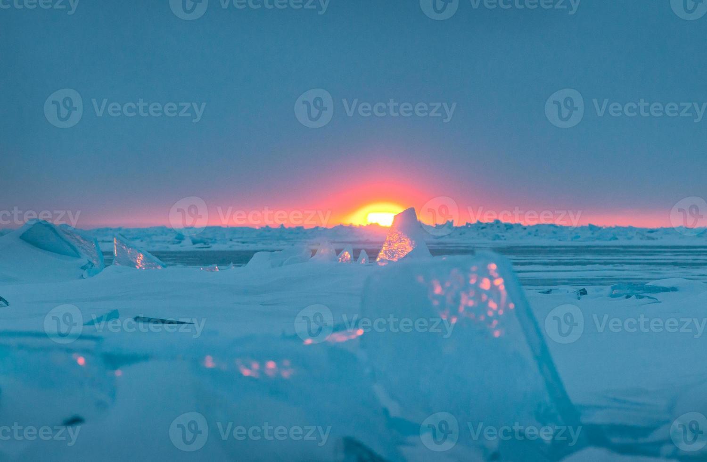 vinter av huronsjön foto