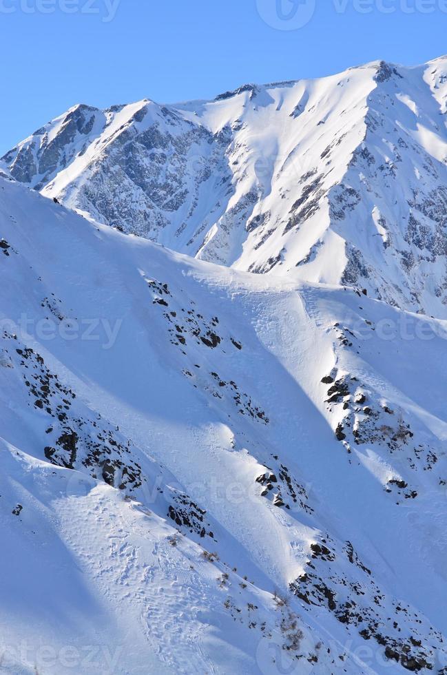 japanska alperna hakuba japan vinter foto