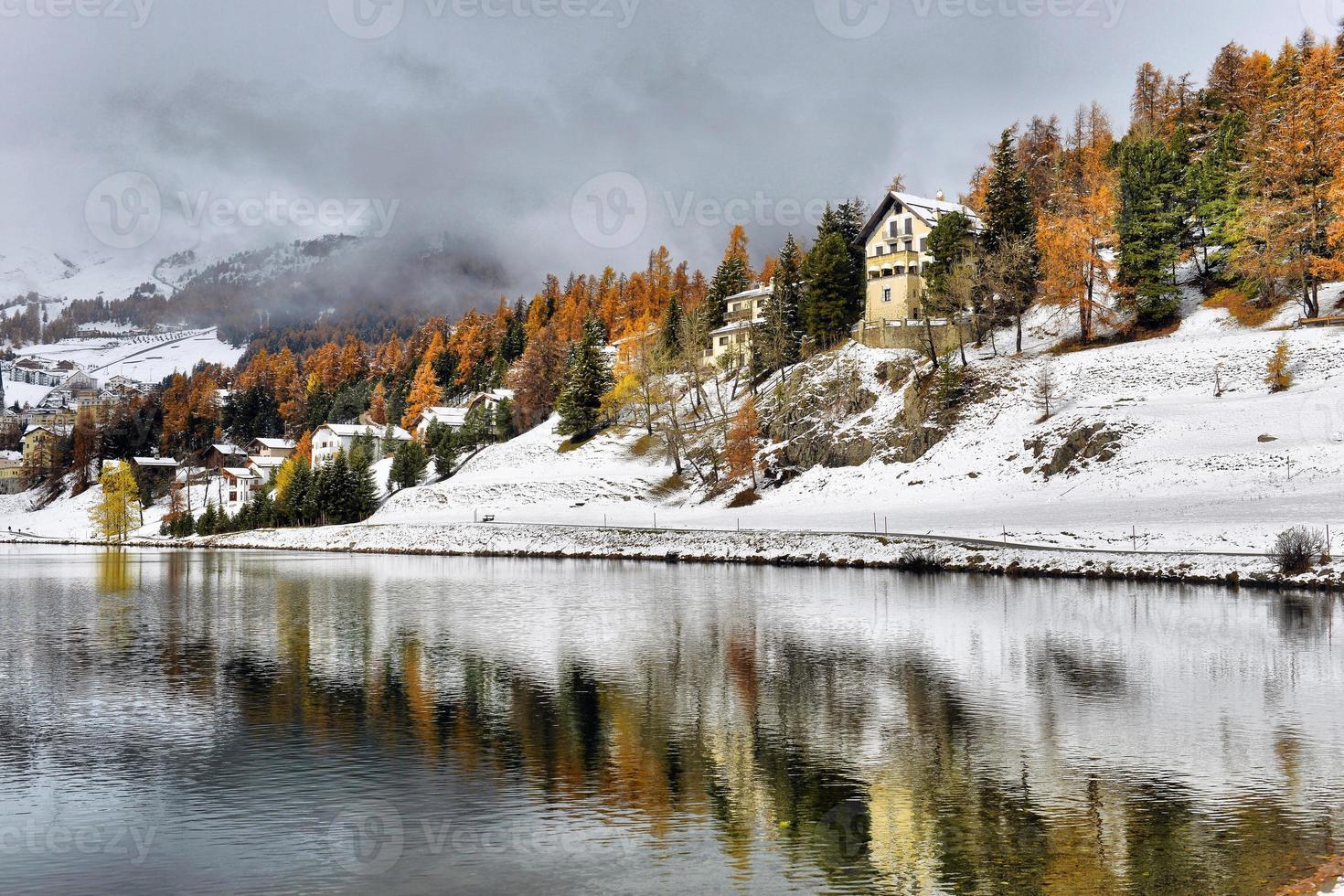 Lake St. moritz vinter foto