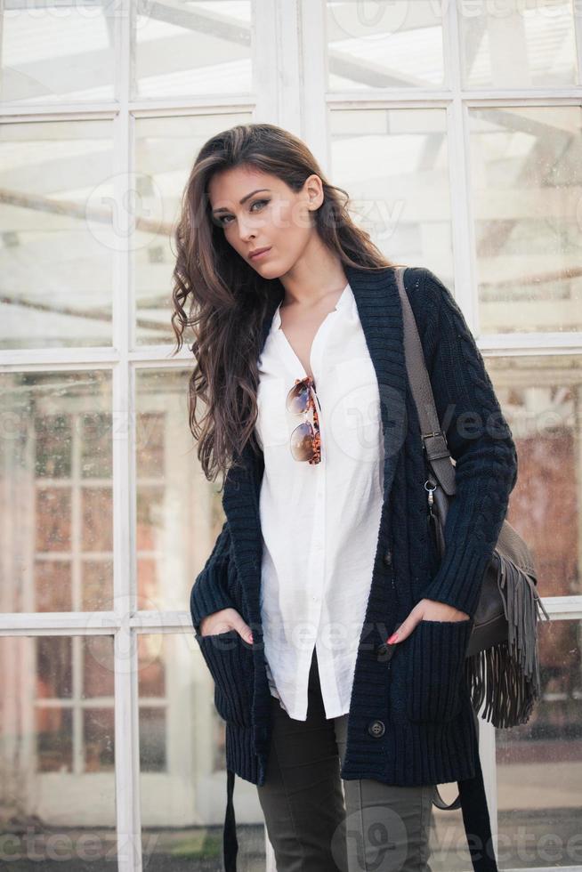 vinter mode kvinna foto