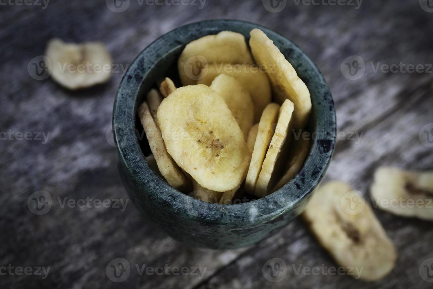 torkad bananfrukt foto