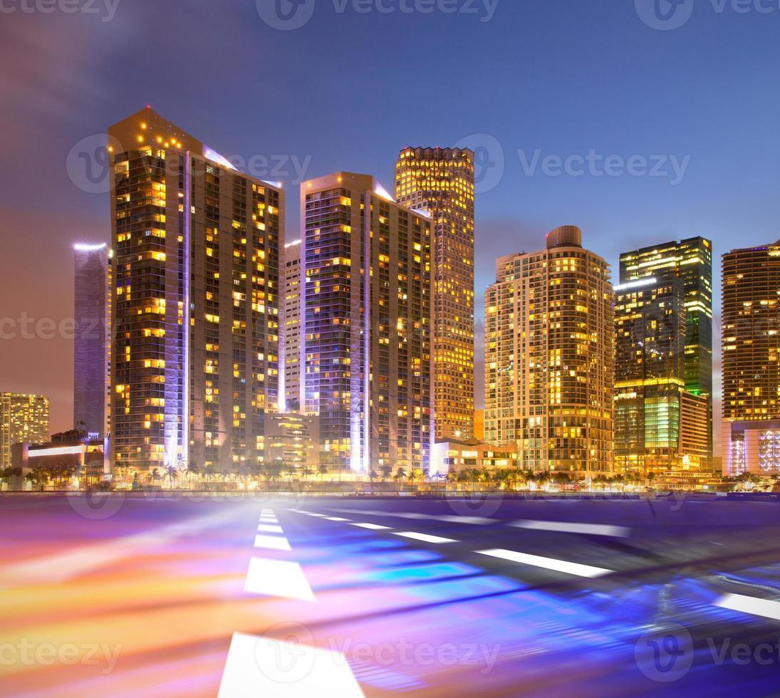 abstrakt bakgrundsillustration av snabb trafikrörelse foto