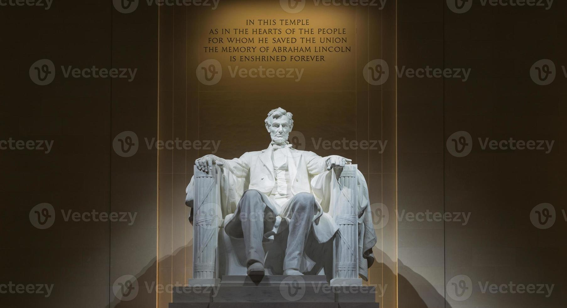 inne i Lincoln-minnesmärket foto